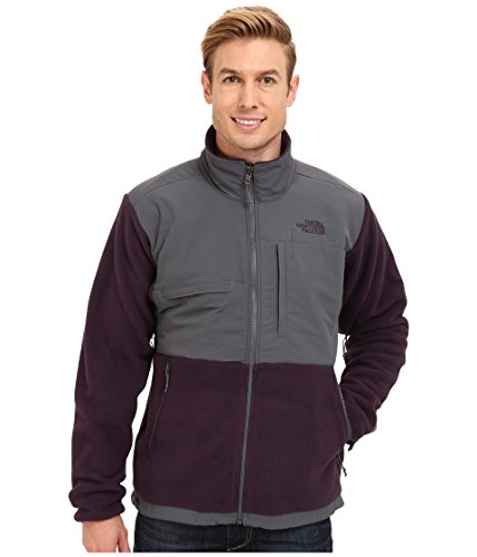 The North Face Men's Full Zip Denali Jacket Recycled Dark Eggplant Purple/Vanadis Grey Small -