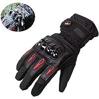Hiver Gants de moto, Imperméable et Coupe-vent, Écran Tactile Gants pour Moto, Hiver Randonnée et Autres Sports de Plein Air - M / L / XL