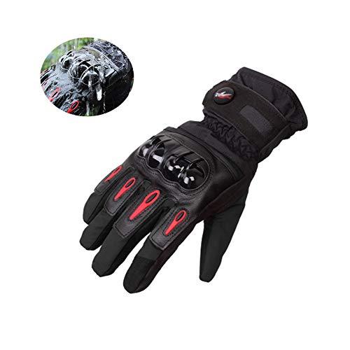 Guantes de Moto Invierno, Impermeables y Resistentes al Viento, Pantalla Táctil Touch Guantes para Motocicleta, Senderismo de Invierno y Deportes al Aire Libre - M/L/XL