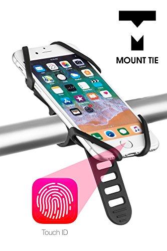 Mount Krawatte Bike Handy Halterung Passend Für iPhone X ID Touch, perfekt für 10,2–15,2cm Smartphones mit Fingerabdruck Sensor Home Button, nicht brechen oder Rost, kompatibel mit Mountain Bikes, Road Bikes, Motorräder, Roller, Baby Kinderwagen & Golf-Trolleys