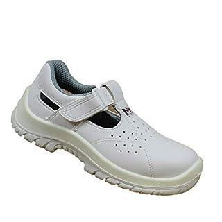 Almar S1 SRC Safety Shoes Work Shoes Labor Shoes Chef Shoes B-Ware, Size:43 EU White