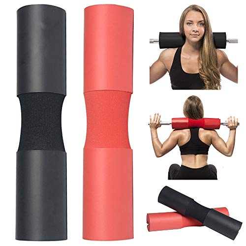 TOUA Barbell Squat Neck Rack Cushion Foam Shoulder Pad Neck Back Protective Pad Fitness Padded Attachment Squat Pads for Weightlifting, Hip Thrusts, Gym Weight Lifting Hip Glute Exercises