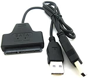 "ADMI™ USB 2.0 to 2.5"" SATA 22P Hard Drive Adapter Cable Converter (Black)"