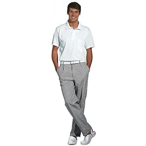 Leiber - Pantaloni da cuoco/pasticcere, Nero (Nero/Bianco), 28