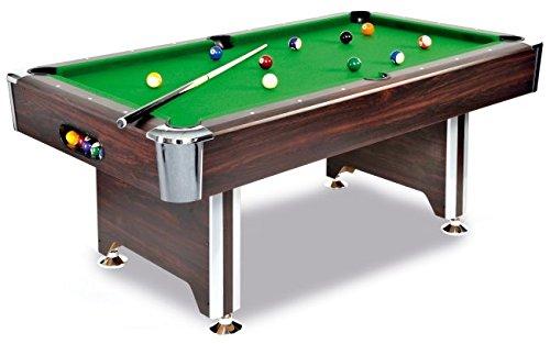 Billardtisch SEDONA 7 ft. - ein hochwertiger Tisch zu einem tollen Preis in Mahagoni-Dekor, mit Chromecken
