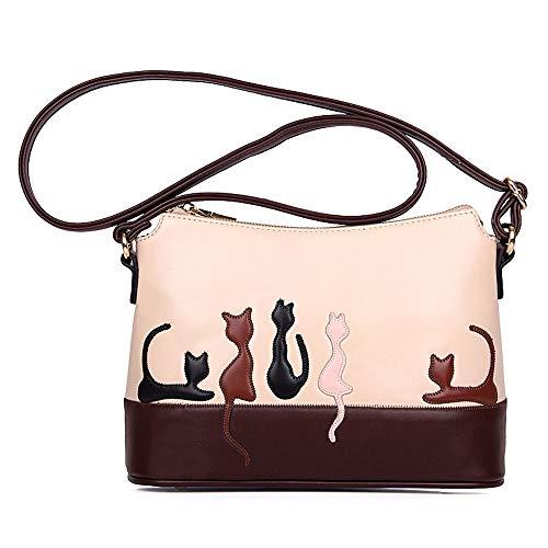 NMERWT Frauen Handtasche Katze Drucken PU Leder Schultertasche Cross Body Damen Handtasche Messenger - Louis Vuitton Canvas Rucksack