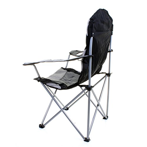 Marko Outdoor Luxury Padded Heavy Duty Folding Steel Camping Chair Fishing Fe