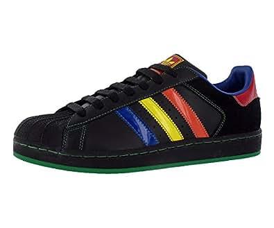 Adidas Superstar 2 CB Men's Sneakers Size US 9, Regular Width, Color Black/Multicolour