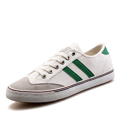 Uomo Ballerine Retro Tempo libero traspirante Scarpe casual white green