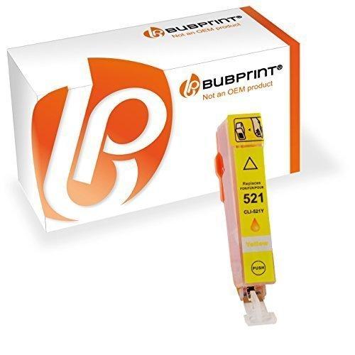 Preisvergleich Produktbild Bubprint Druckerpatrone kompatibel für Canon CLI-521Y CLI 521Y für Pixma IP3600 IP4600 IP4700 MP540 MP550 MP560 MP620 MP630 MP640 MP980 MP990 Yellow