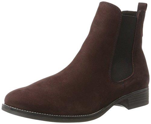 Caprice Damen 25317 Chelsea Boots, Rot (Dk Bor.Nubuk), 40 EU (Nubuk, Runde Stiefel)