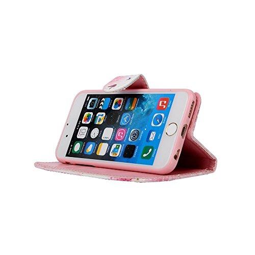 Sunroyal® iPhone 6 6s Bookstyle Étui Housse en PU Cuir Case à Rabat Portefeuille Swag pour Apple iPhone 6 / iPhone 6s (4.7 Pouces) Coque de Protection avec Stand Intérieur TPU Silicone Souple Case - A C-06