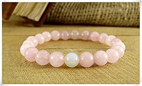 Moonstone Bracelet Beaded Bracelet,Rose Quartz Bracelet, Womens Gift Fertility Bracelet Gift for Girl Quartz