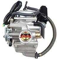 GOOFIT 24mm Keihin de alto rendimiento de la motocicleta carburador para GY6 125cc 150cc de 4 tiempos ciclomotor Go Kart