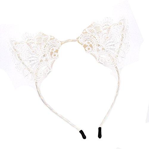 Frauen nette Katze Kostüm Ohr Partei Spitze Hairbands Stirnband Dame Kinder
