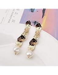 Aretes de Perlas para Mujer Moda Pendiente para Mujer Accesorios de joyería de Regalo