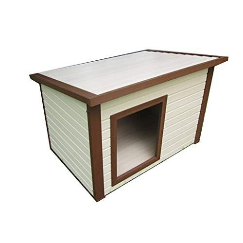 Perrera Casa De Perro De Plástico Al Aire Libre De Madera Casa para Mascotas Al Aire Libre Nido Resistente Al Sol Extraíble Y Lavable Cajones (Color : Blanco, Size : 96 * 73.5 * 67cm)