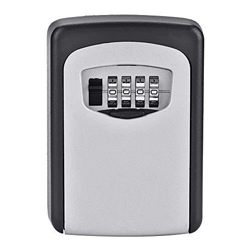 DGTRHTED Key Lock Box - 4-stellige Passwort Wandhalterung Key Safety Code Keys Halter Storage Lock Box Case