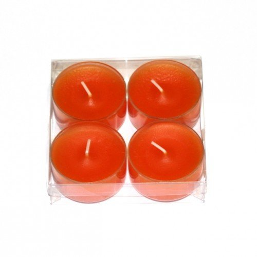 Maxi bougies chauffe-plat-lot de 4–orange)