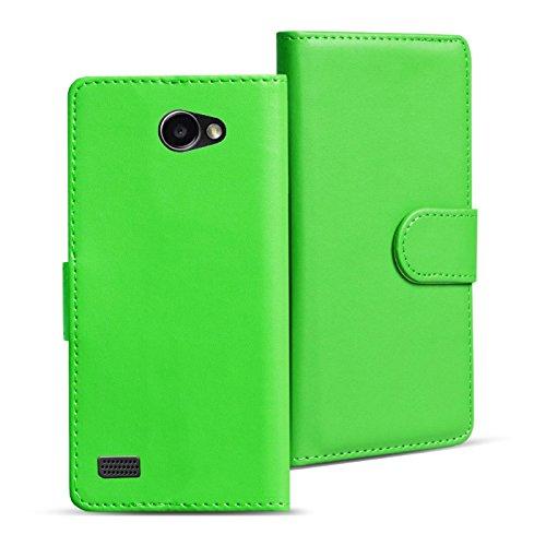 Verco Bello 2 Hülle, Handyhülle für LG Bello 2 Tasche PU Leder Flip Case Brieftasche - Grün