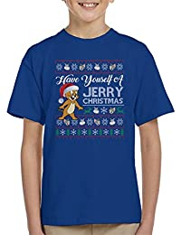 Cloud City 7 Have Yourself A Jerry Christmas Knit Tom and Jerry Kids T-Shirt