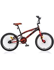 Bicicleta Freestyle Dino Bikes Aurelia 20 Pulgadas Negro Rojo