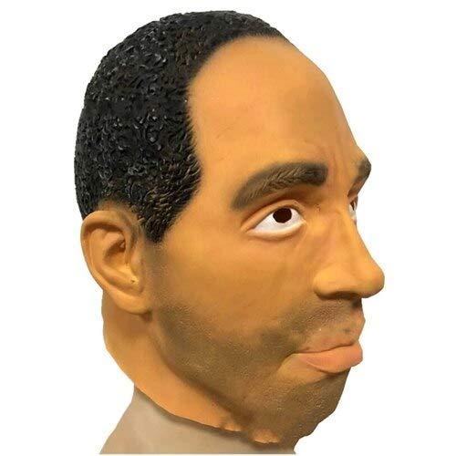 Barack Obama Promi-Gesichtsmaske Latex-Gesichtsmaske Obama-Gesichtsmaske für Cosplay Funny Party Mask, Bildfarbe ()