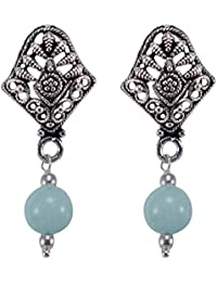 Silvesto India 925 Silver Plated Stud Earring Jewellery