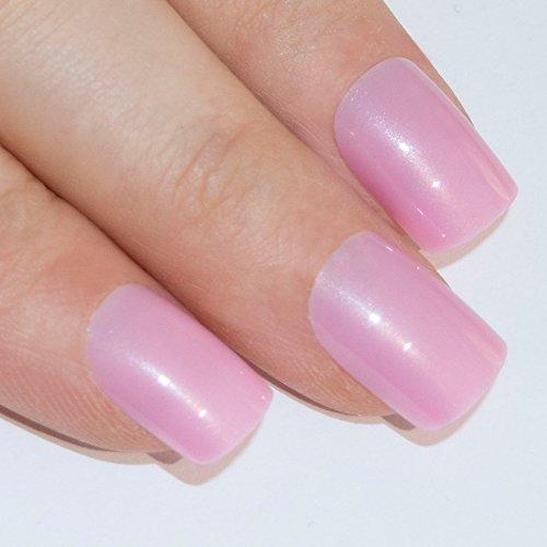 Bling art faux ongles Manucure française Rose naturel Conseils moyen - UK