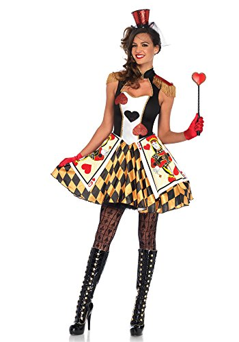 Leg Avenue 86638 Kostüm Set Card Guard, Damen Karneval Fasching, S, mehrfarbig (Card Guard Kostüme)
