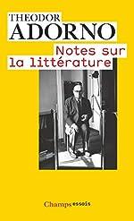 Notes sur la littérature de Theodor Adorno