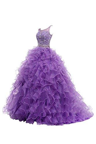 Dresstells Damen Brautkleider Abiballkleider Abendkleider Hochzeitskleider Orange