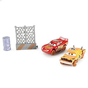 Cars 3-Pack de 2 Coches Crazy Push Over y Lightning Mcqueen (Mattel FCW08)