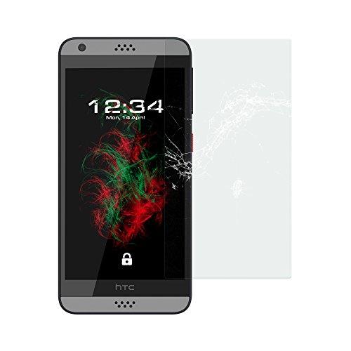 Baluum 1x Glasfolie für HTC Desire 630 Klare Bildschirmschutzfolie 9H Echt Glas-folie Clear Tempered Glass Screen protector Glas Durchsichtige Schutzfolie für HTC Desire 630 (Glasfolie-Klar 1x)