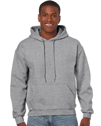 Gildan Heavy Blend Erwachsenen Kapuzen-Sweatshirt 18500 Sport Grey, M