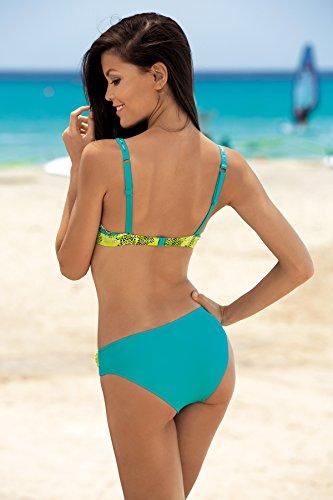 Feba Figurformender Damen Push Up Bikini D1N32L1 Muster-01DKE