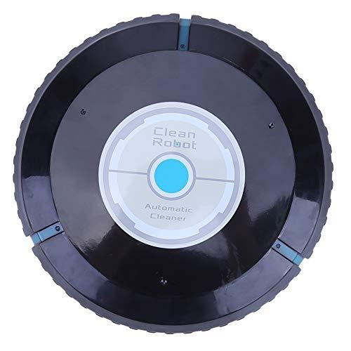 Robot Aspirador y Fregasuelos, Domybest Aspiradores inteligentes, Creative Intelligent Automatic Sweeping Clean Robots, Dirección Automática, Desmontable Fácil de limpiar (negro)