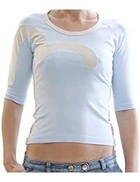 ef6faeae24ec Evisu t-shirt Insert logo Sky Blue stretch top