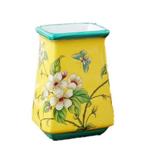 Bejoliann portaspazzolino bagno multi-funzione giallo mela fiore dentifricio porta spazzolino portaspazzolini portapenne fiore