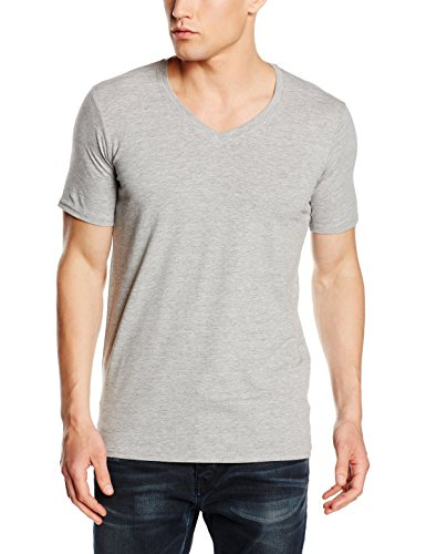 Stedman Apparel Herren T-Shirt Dean (Deep V-Neck)/St9690 Grau (Grey Heather)