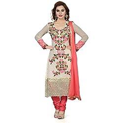 ishin Women's Dress Material (Ishintpdm-CreamB _Multicolor_Free Size)