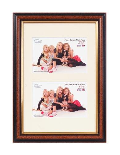 Inov8 PFES-Teak-DA1 Traditionell Briten Foto und Bilderrahmen, 20 x 30 cm, Dual Blende 2X 10 x 15 cm, 580 Teak