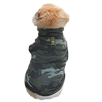 Chiens Textiles et Accessoires,VêTement Chaud Chien Chiot Villus Chaud Gilet Chiot VêTements Chien,Chiens Chemises (XS, Camouflage)
