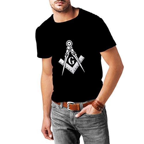 Lepni.me maglietta da uomo muratori (massoni) - accessori per gli uomini con i simboli squadra e compasso (xx-large nero fluorescente)