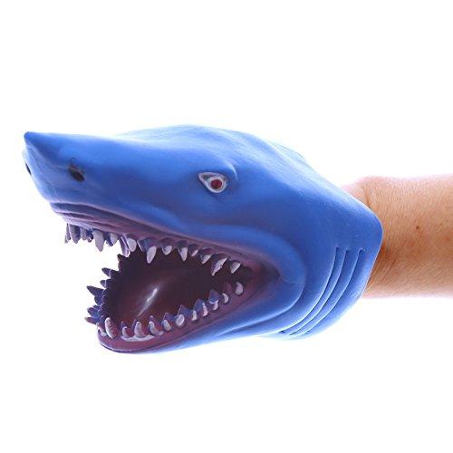 Handpuppe Puckator Marioneta Tiburón Goma Blanda