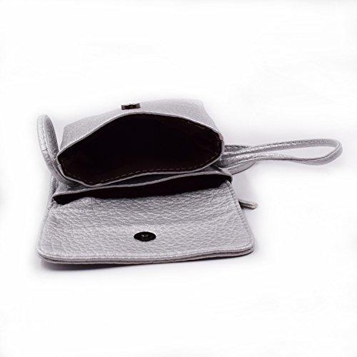WITERY, Borsa a tracolla donna small, profound black (nero) - CA41 Silver