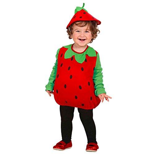 �m Frucht Kostüm 90-98 cm Früchtchen Faschingskostüm Erdbeerkostüm Obst Kinder Outfit Karneval Verkleidung (Kinder-frucht-kostüm)