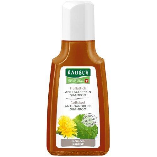 Rausch Huflattich Anti-Schuppen Shampoo (wirkt nachhaltig und mild gegen Schuppen, ohne Silikone und Parabene - Vegan), 4er Pack (4 x 40 ml)