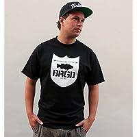 "Bass Brigade T-Shirt /""Bass-Brigade/"" blau//grün"