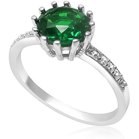 Velini in argento sterling, con smeraldo, con
